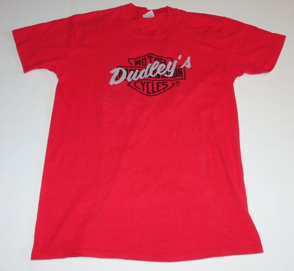Vintage Harley-Davidson 1988 Dudley Perkins 75th Anniversary Red T-Shirt Size L $39.99