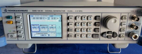 Rohde & Schwarz SMB100M RF Signal Generator Calibrated 9KHz to 2.2GHz