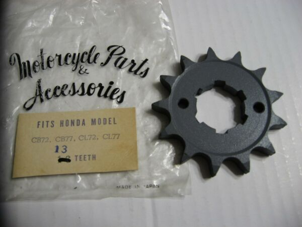 NOS Honda Parts 13 Tooth Front Sprocket Early CB77 Superhawk amp; CL77 Japan 1969