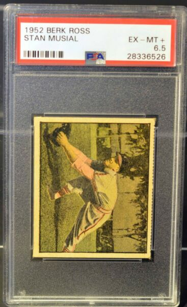 1951 Berk Ross Stan Musial #2-1 Hit parade of Champions Cardinals PSA 6.5