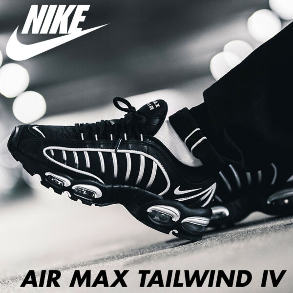 Nike Air Max Tailwind Men's Sneakers Black/White/Black AQ2567-004 DOUBLE BOXED