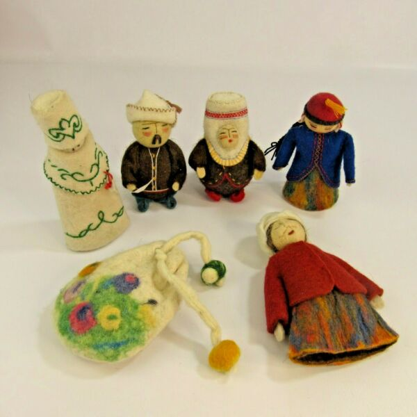 Jailoo Mongolian Handmade Dolls and Fortune Telling Game Sheep Ankle Bone