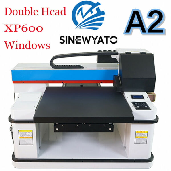 UV Printer A2 Flatbed Cylindrical Signs Glass Metal T-shirt Rotation Embossed