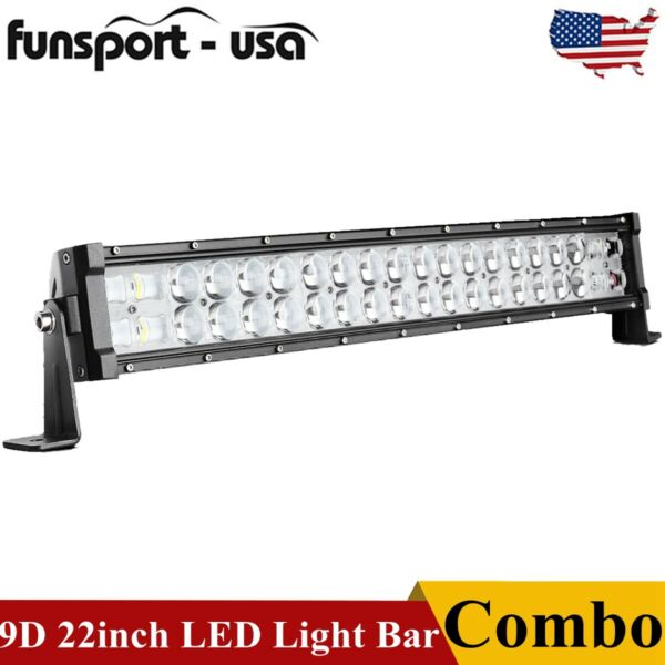 22quot; inch 120W SPOT FLOOD COMBO LED Light Bar Offroad Driving 4WD ATV Boat Truck