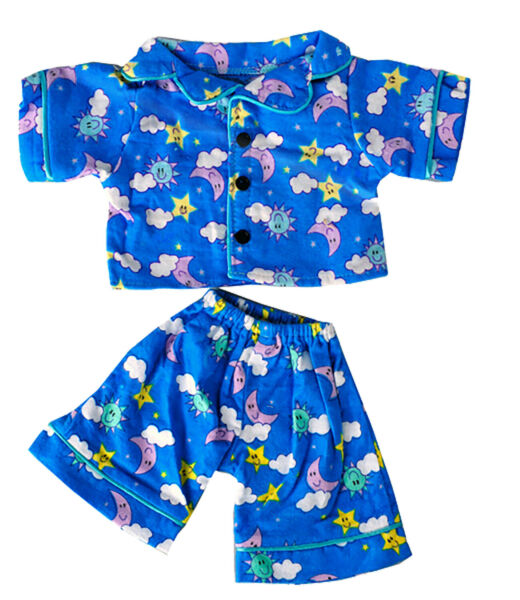 Sunny Days Blue Pj#x27;s Teddy Bear Clothes Outfit Fits Most 14quot; 18quot; Build A Bear