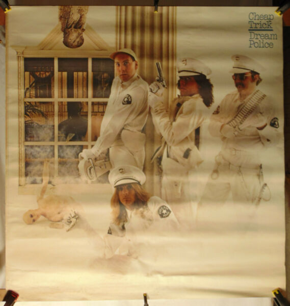 CHEAP TRICK Dream Police Large Promo Poster $39.99
