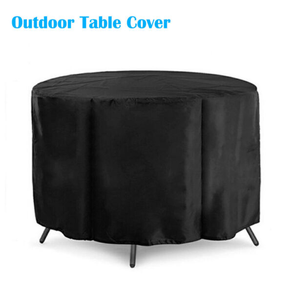 Outdoor Round Table Chair Set Furniture Protect Cover Patio Waterproof Cloth New $20.69