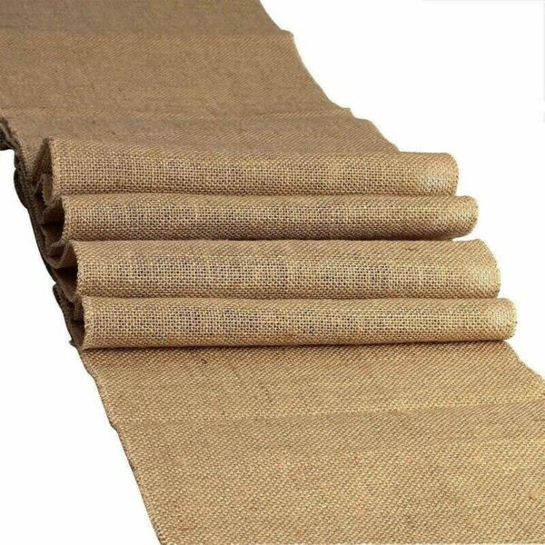 Natural Jute Fabric Ribbon Plain Flax Linen Burlap Eco Material Craft Decor Trim