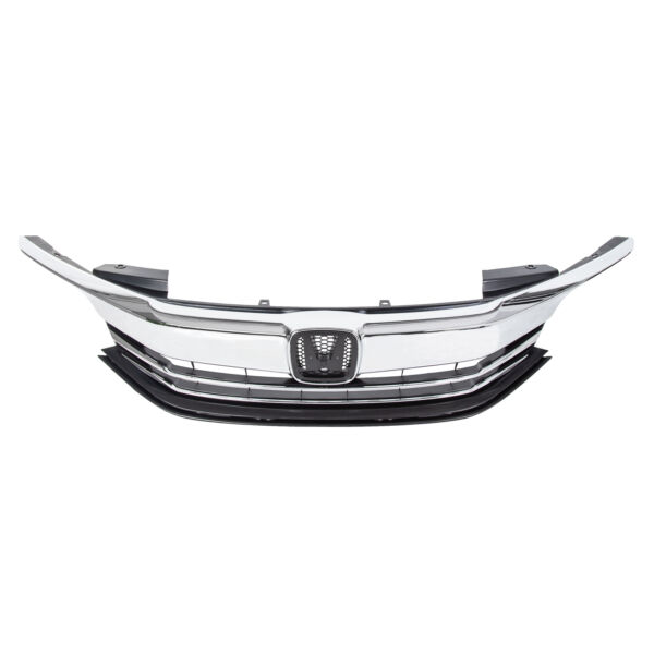 For 2016 2017 Honda Accord Sedan 4D ABS Front Bumper Grille Upper Top Grill Assy