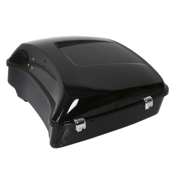 Black Chopped Tour Pak Trunk For Harley 2014 2020 Touring Pack $170.00