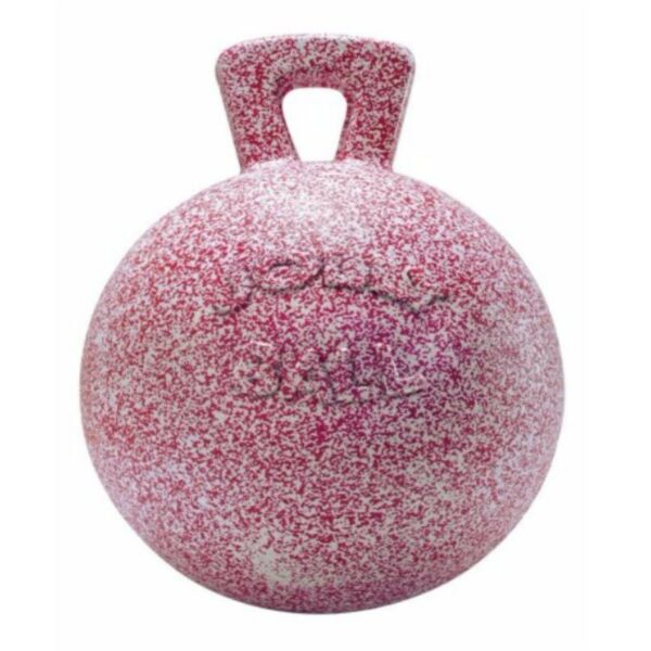 Horsemen's Pride Jolly Ball With Handle PinkWhite 10 inch  Peppermint Scented $37.65