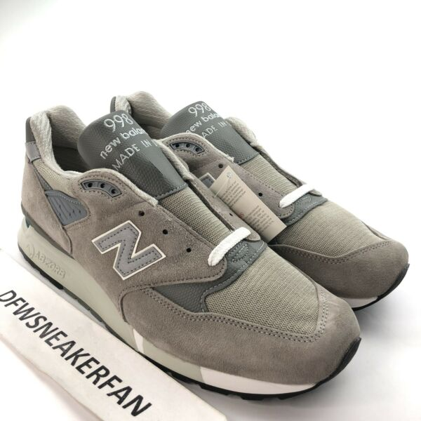 New Balance 998 Made In USA Men's 13 Wide Grey Suede Shoes M998 New