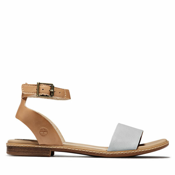 Timberland Women#x27;s Cherrybrook Brown Full Grain Grey Leather Sandals A1WY3 $44.59
