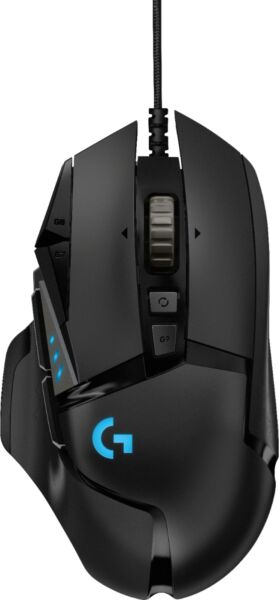 Logitech G502 HERO Wired Optical Gaming Mouse with RGB Lighting Black