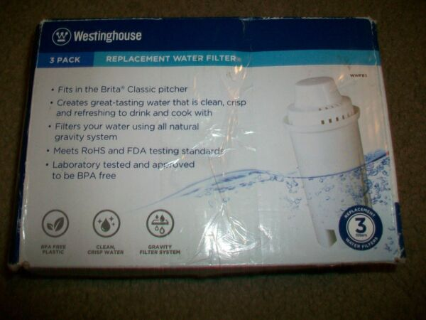 3 Brita water filter pitcher Replacement Filters Westinghouse WWFB3