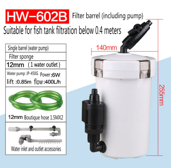Aquarium Canister Fish Tank External Filter Outside Pre Filter mini Filter $55.99