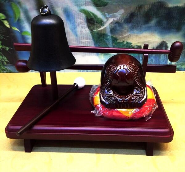 Wood Fish Muyu Bell Rack Buddhist Monk Mokugyo Stage Props Temple $99.00