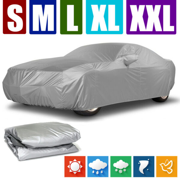 S XXL Car Cover Waterproof Dust Resistant UV Sun Protector Outdoor For All Sedan $27.99