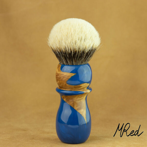 MRed France 1 332in Shaving Brush Precious Resin Root & Badger Hair 2-Band