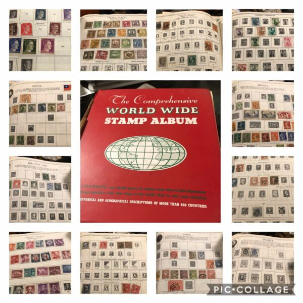 Vintage World Wide stamp Collection Album RARE