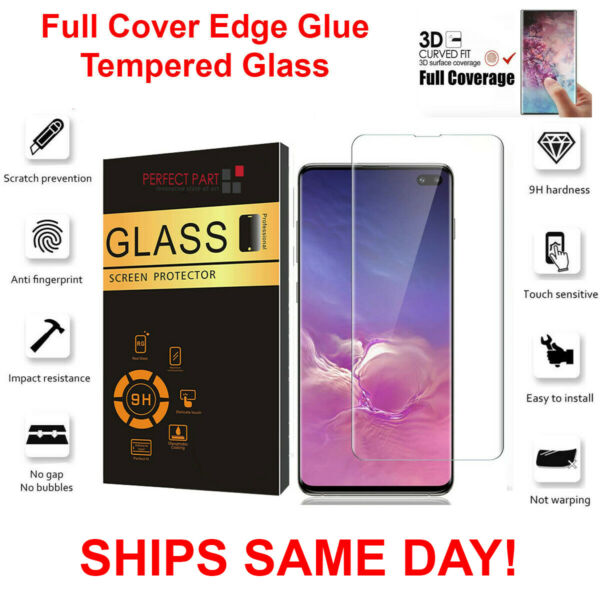 For Samsung Galaxy S10e S10 PLUS Full Cover 3D Tempered Glass Screen Protector $5.89