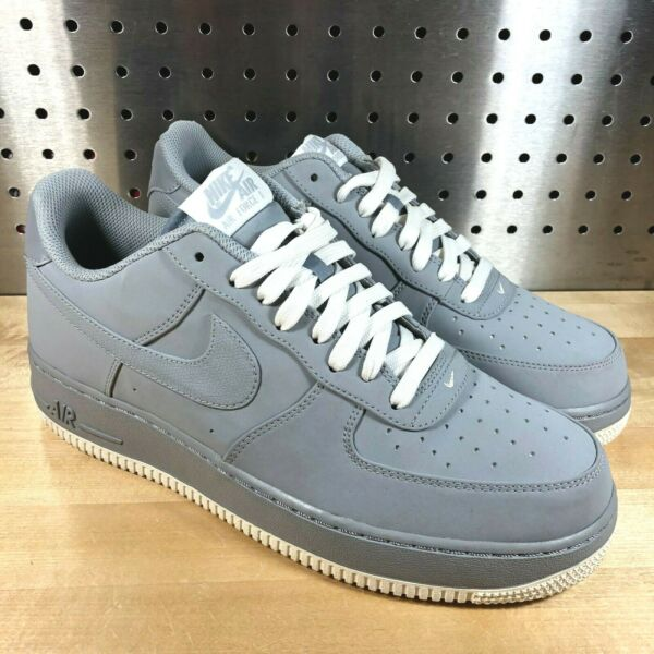 New Nike Air Force 1 Low Wolf Grey White Sneakers 820266 016 Mens Sz 9