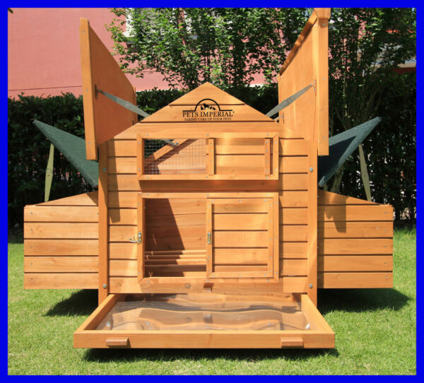 Pets Imperial® Savoy Large Deluxe Chicken Coop Hen Poultry House Rabbit Hutch