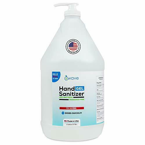 Wave Hand Sanitizer - 128 Oz (1 Gallon) Gel + Easy to use Pump Made in USA