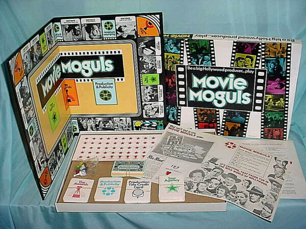 MOVIE MOGULS Board Game Vintage Be A Big Hollywood Producer Unplayed Stars Actor