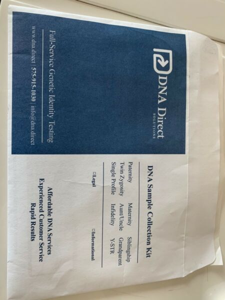 DNA Direct Solutions DNA Paternity Collections Kit- Brand New