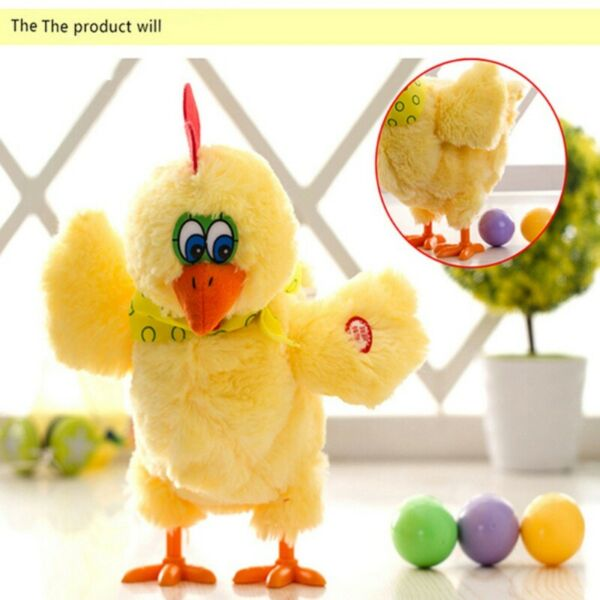Kids Children Musical Dancing Chicken Plush Toy Electric Laying Eggs Hen Toys US