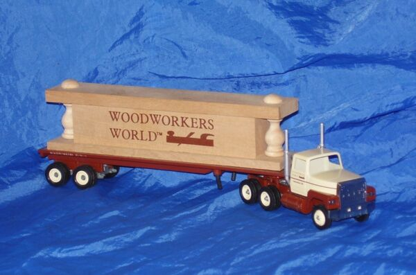 Winross Die Cast Wood Workers World Ford Tractor Trailer BEYOND UNIQUE VHTF