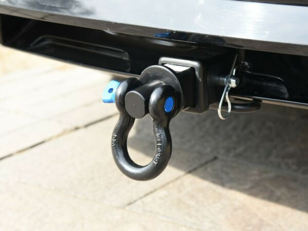TOPTOW 63710 D ring Shackle Hitch Receiver 2quot; Swivel Recovery Hitch $29.99