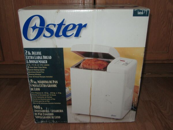 NEW Oster 5839 Deluxe Bread and Dough Maker Machine 2 lbs.