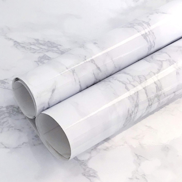 Counter Top Peel and Stick Grey Granite Marble Gloss Film Vinyl Self Adhesive US