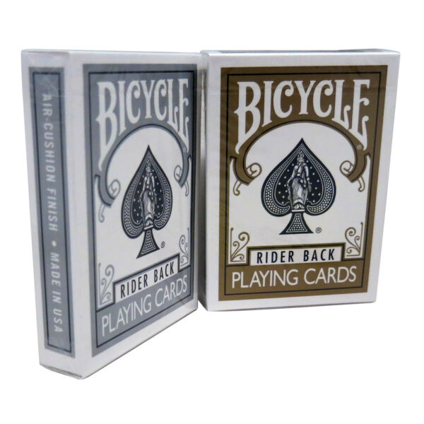 MMS Cards Bicycle Gold and Silver Back Set Trick