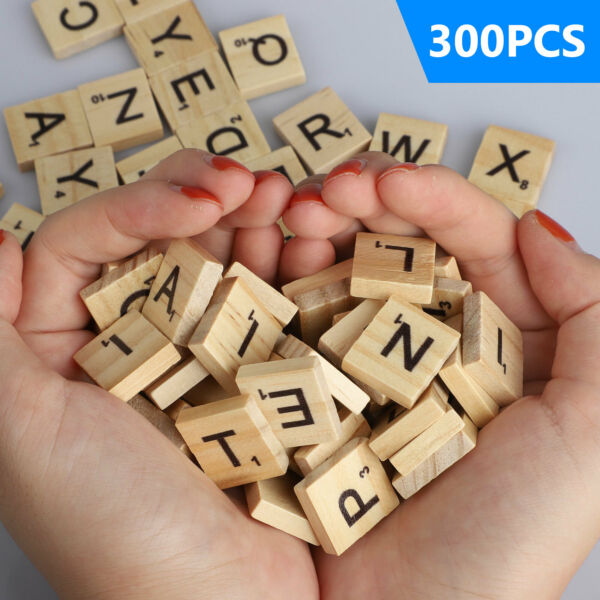 SCRABBLE WOOD TILES 400Pieces Full Sets Letters Wooden Replacement Pick