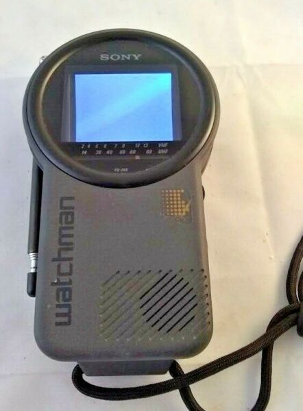 Vintage Sony Watchman FD-250 Mini T.V. Receiver 1992 Portable Television