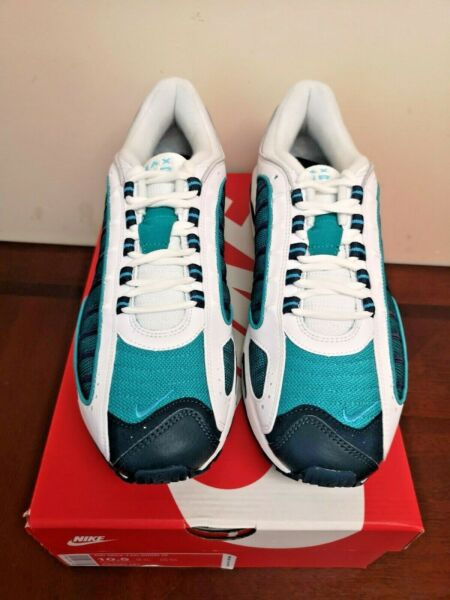 NEW Nike Air Max Tailwind IV Men's Shoes - US Size 10.5, White/Teal/Blue/Purple
