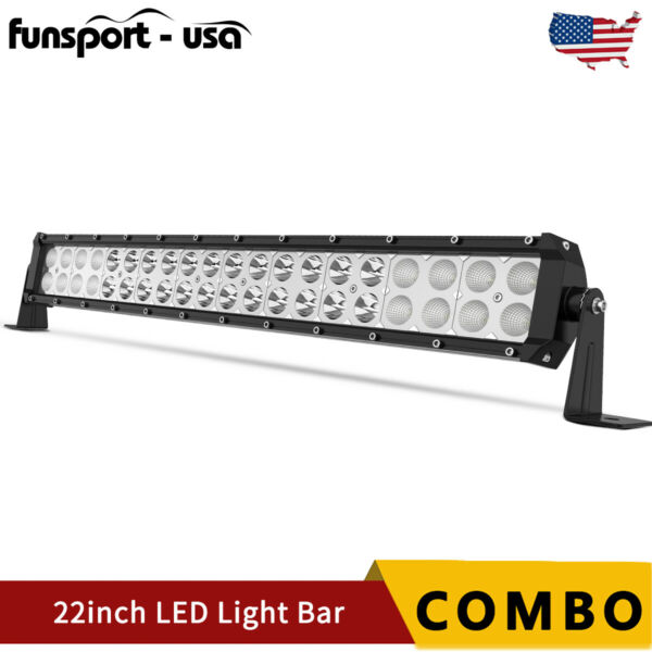 22INCH 120W LED LIGHT BAR Spot Flood Combo Fits Ford Offroad Truck SUV ATV 24quot;in