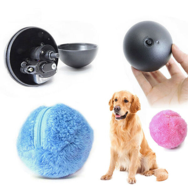 4Pcs Automatic Dust Remover Ball Pet Dog Cat Ball Toy Electric Rolling Ball Toy $11.69