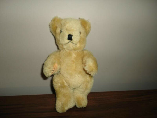 Antique Old Fully Jointed 8 Inch Plush Teddy Bear 60s