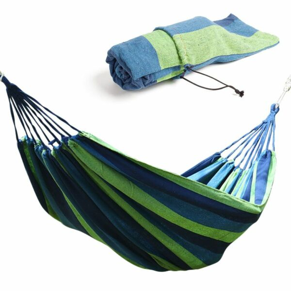 Single Hammock Extra Long Two Person Portable Hammock Bed Hiking Hanging Swing $16.39