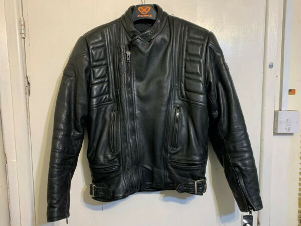 VINTAGE 80#x27;s BELSTAFF LEATHER TWIN TRACK MOTORCYCLE JACKET SIZE S GBP 99.00