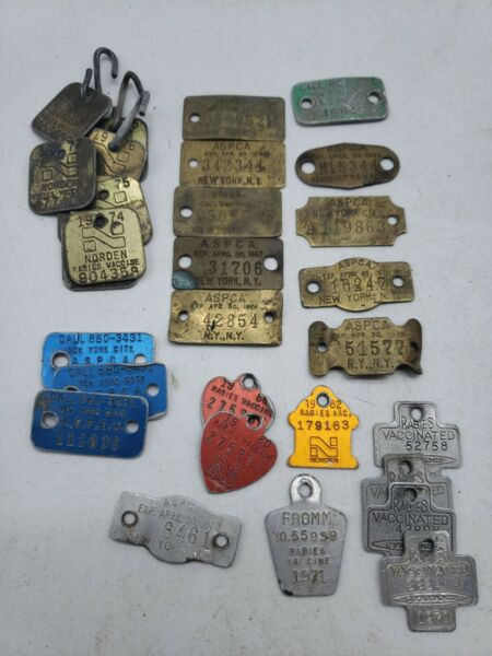 Vintage ASPCA Metal Dog Pet Tags Lot of 30 JJ3 2 $49.99