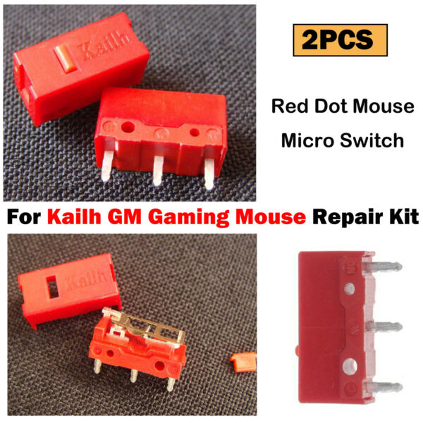 For Kailh GM Gaming Mouse Red Dot Mouse Micro Switch Gaming Button Kits 2PCS Set