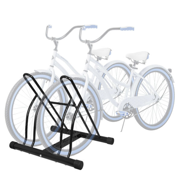 2.5quot; Two Bicycle Bike Stand Garage Floor Storage Organizer Cycling Rack Max Tire $29.99