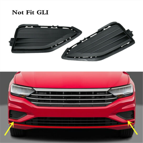 Pair Front Bumper Lower Grille Grill Cover Black Fit For VW Jetta 2019 2021