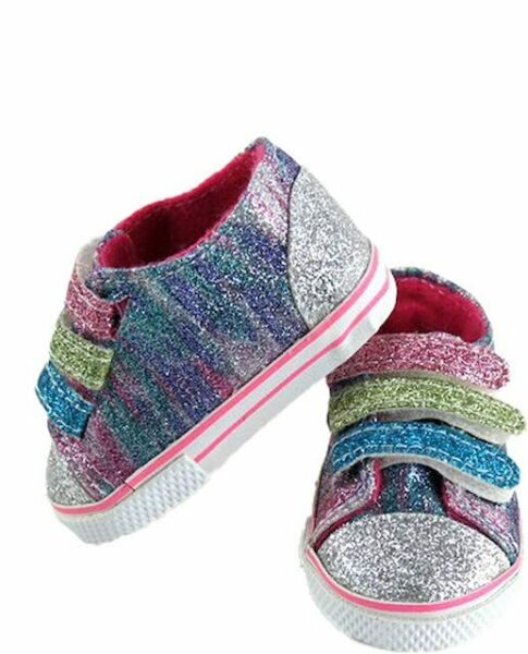 Rainbow Glitter Laceless Sneakers18