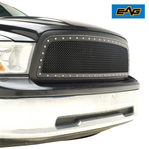 EAG Replacement Mesh Grille Upper Black Grill Fit 2009 2012 Dodge Ram 1500